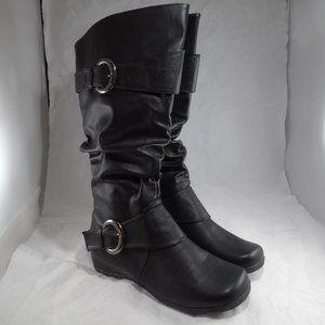 JG Boots Size 10 22258 Tall Mid-Calf Black Boots